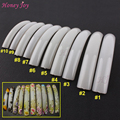 Pro 20Pcs/lot Acrylic Extra Long UV Gel French False Nails Tips Nail Art Design Salon Display Natural White Clear