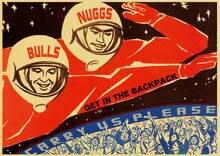 Vintage russe propagande affiche l'espace course rétro urss CCCP affiches et impressions papier Kraft mur Art décor de la maison