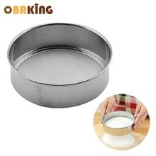 цены OBRKING  Stainless Steel 15cm Flour Sieve 60 Mesh Cooking Tools Baking Tools Sieve Screen Handheld Round Fine Flour Strainer