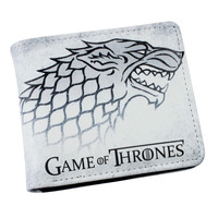 Hot Sale TV Series Game Of Thrones Folding Casual Wallet High Quality Short PU Purse