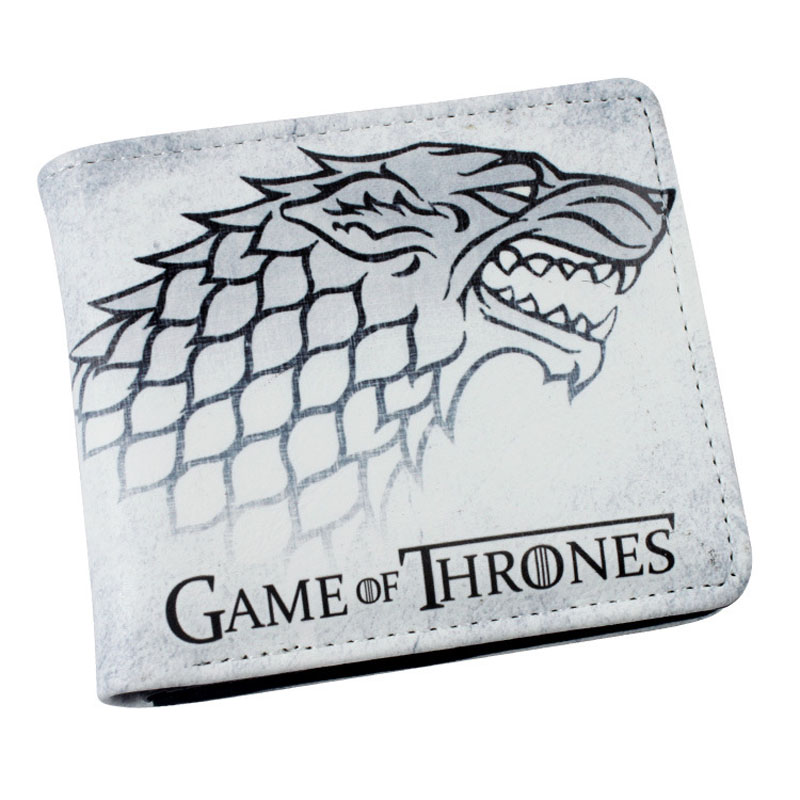 Hot Sale: TV Series Game of Thrones Folding Casual Wallet/ High Quality Short PU Purse 5 pcs lot cartoon anime wallet wholesale nintendo game pocket monster charizard pikachu wallet poke wallet pokemon go billetera