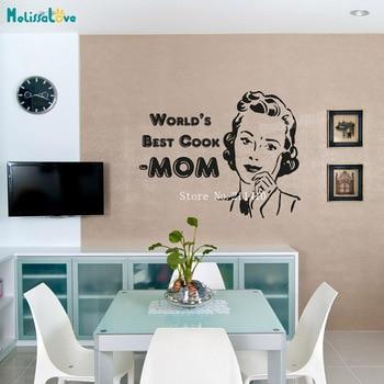 Vinilo pegatina de pared mejor cocina Vinilos Paredes calcomanías  decoración del hogar para cocina comedor auto-adhesivo arte murales YT171