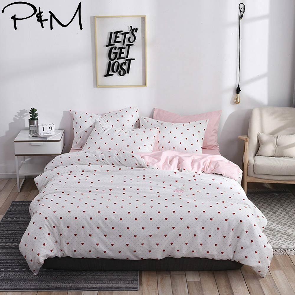 2019 PAPA&MIMA Red Little Hearts Brief Scandinavian Duvet Cover Set Queen King Customize Size Cotton Bedlinens Bedding Sets2019 PAPA&MIMA Red Little Hearts Brief Scandinavian Duvet Cover Set Queen King Customize Size Cotton Bedlinens Bedding Sets