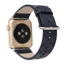 Correa de reloj con diseño de diamante para Apple Watch 38mm 42mm 40mm 44mm correa de cuero genuino para iWatch la serie 2 3 4 correa de pulsera(China)