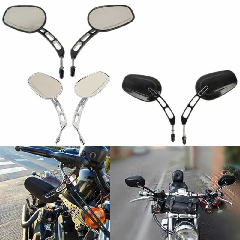 Motorcycle Flame Rearview Side Mirror For Harley Cruiser Touring Sportster Dyna