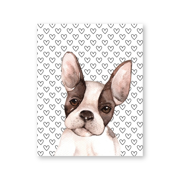 Boston Terrier Print,Mid Century Modern art print,dog wall art,Boston Terrier decor,dictionary art print,animal wall decor,dog wall art #307