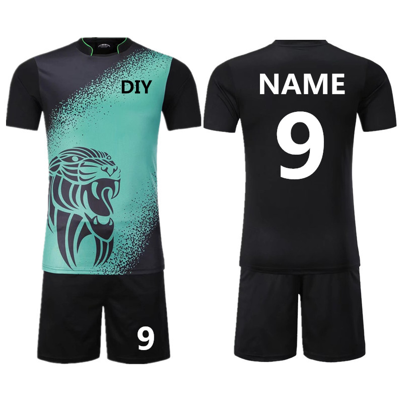 Personality Kids Adult Survetement Football Jerseys kit Chinese vintage  elements Sports Soccer Jersey set Uniforms shirts shorts-in Soccer Sets  from Sports ... f064ef44d