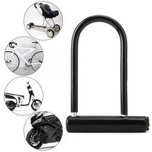 цена Heavy Duty Zinc Alloy Bike U Lock Bicycle Cycling Steel Bicycle Security Lock Bike Motorcycle Bicycle Security anti-theft Lock