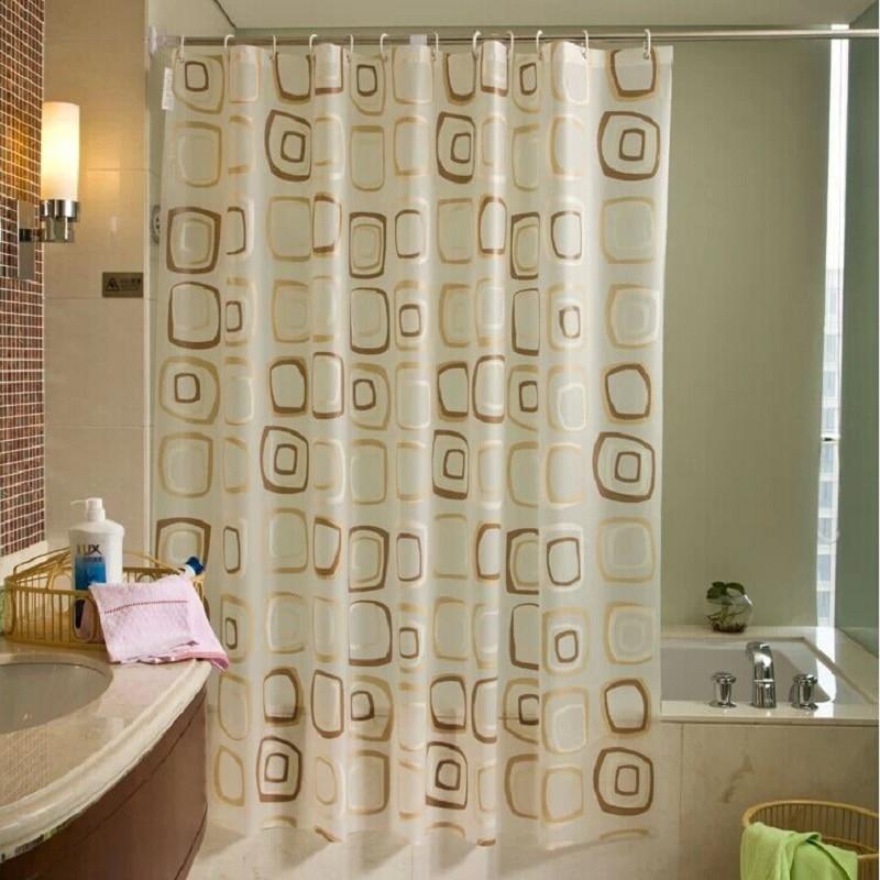 2016 WaterProof Bath Curtain Square Plaid Pattern Home Decor Bathroom Mouldproof PEVA Fabric Shower Curtain YL41