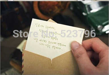 O envio gratuito de 1 Lote = 100 Pcs Mini Envelopes Envelopes De Papel Do Vintage Envelope Mini Cor Envelope Do Vintage