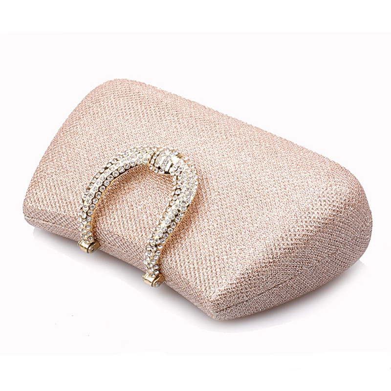 Hot 2016 New Women's Banquet Day Clutches Luxury Sided Diamond Evening Bag Wedding Party Handbag Purse Shoulder Bag with Chain new women s retro hand beaded evening bag wedding bridal handbag chain shoulder bag stitching sequins diamond stone day clutches