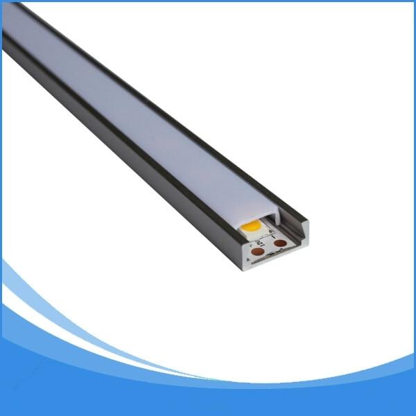 20PCS-2m garumā vadītais sloksnes alumīnija profils-Nr. LLA-LP05 vadīts sloksnes profils piemērots LED sloksnēm līdz 11 mm platumam
