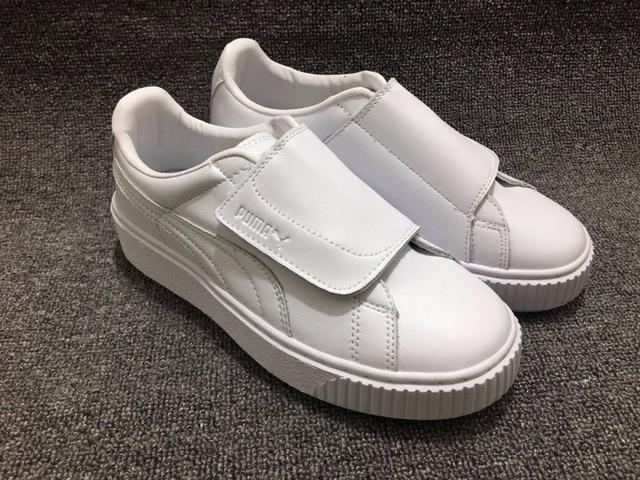 PUMA Rihanna Women s Original PU Strap Platform Satin Badminton Shoes  Size35.5-40 8d86a8577