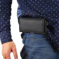 Açık kayış el adam kemer klip cep telefonu kılıfı çanta kart kılıfı için blackberry classic q20, pasaport,
