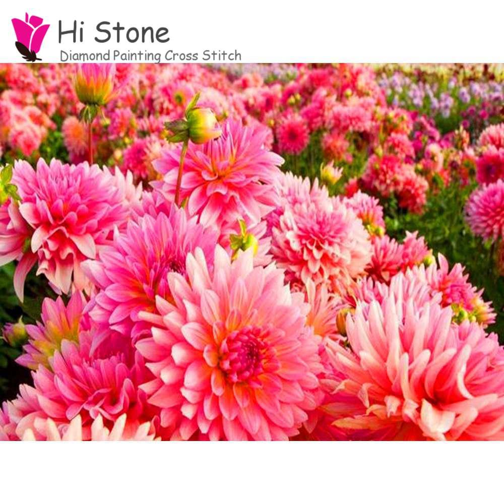 Diy алмаз живопись розовый цветок полный площадь поперечного стежка Алмазная вышивка рукоделие мозаика наклейки украшения дома подарок