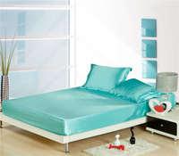Cor brilhante lençol roupa de cama para Adultos casa decoração tecido tecido de cetim de seda 500TC 3 peças com fronhas quarto decor
