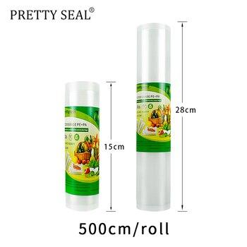 PRETTYSEAL vacuum sealer bags 15*5m+28*5mTextured Vacuum Sealer Bags BPA Free & FDA Approved Pouch Set utensilio de cozinha