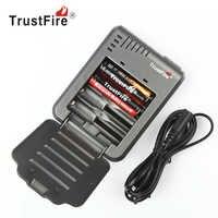 TrustFire Smart Intelligent Lithium с Батарея Зарядное устройство светодиодный перезаряжаемый аккумулятор 4 слота для 18650 18500 16340 14500 10440 Перезаряжаемые Li-Ion Б...