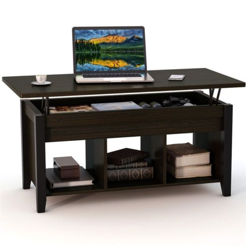 Lift-Top Coffee Table With Storage & Open Shelf Modern Living Room Furniture Hot