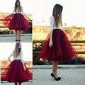 Popular Midi Saia de Tule Tutu saia de Tule 2017 Vestido a Melhor Qualidade da American Apparel Tutu Saias Das Mulheres Saia de Cintura Elástica