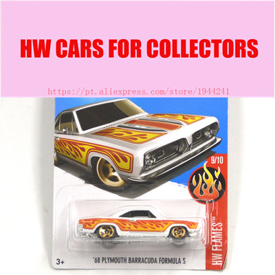 2017 New Hot 1:64 Car wheels 68 Plymouth barracuda formula s car Models Metal Diecast Car Collection Kids Toys Vehicle Juguetes