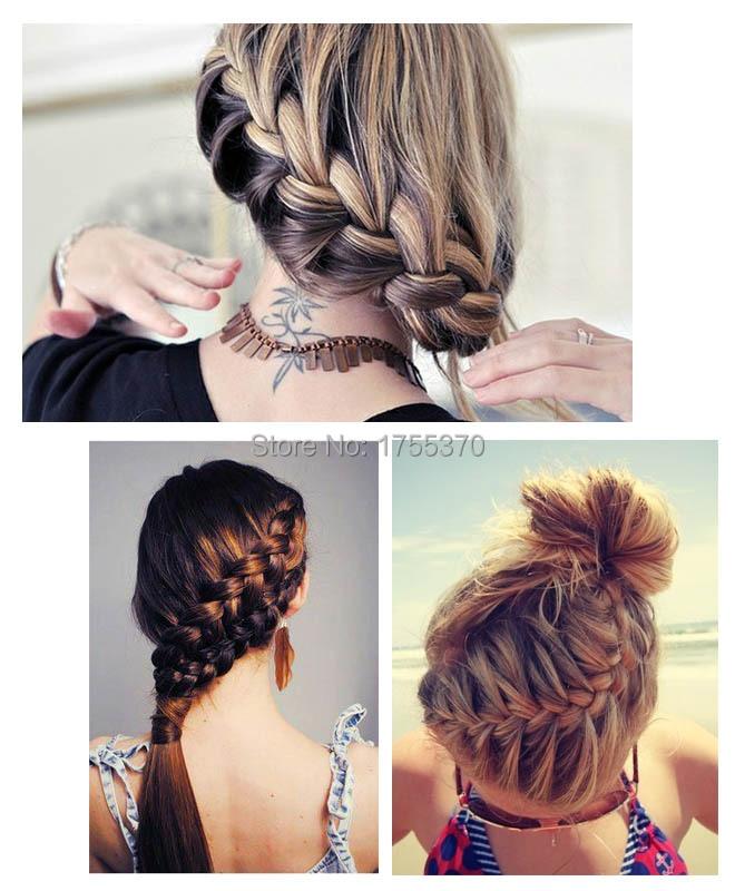 Fashion Magic Hair Braiding Fisk Bond Waves Braider Tool Roller Med - Hårpleje og styling - Foto 4