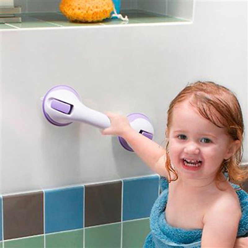 Zhangji Safety Helping Handle Anti Slip Support Toilet bthroom safe Grab Bar Handle Vacuum Sucker Suction Cup Safety Handle