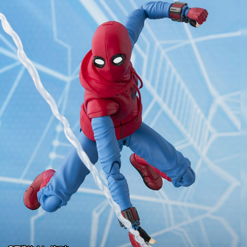 Free Shipping 5.5Homecoming S.H.F Spiderman Female Moveable Boxed 14cm PVC Action Figure Collection Model Doll Toys Gift