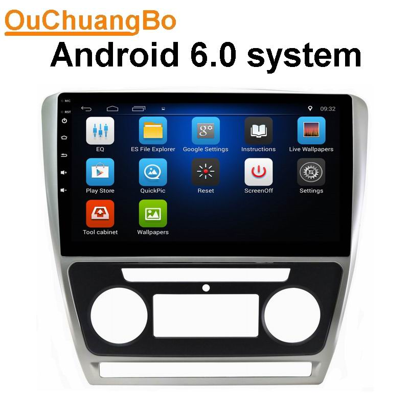 ouchuangbo android 6 0 auto stereo radio for skoda octavia. Black Bedroom Furniture Sets. Home Design Ideas