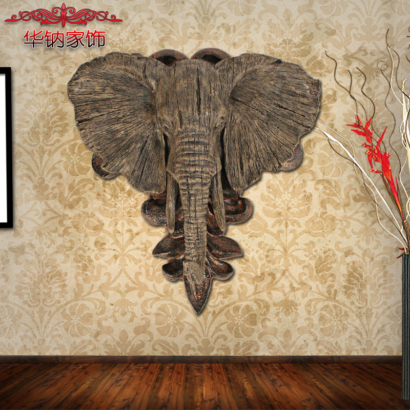 2016 Sale Direct Selling The Elephant Head Hanging Animal Resin ...