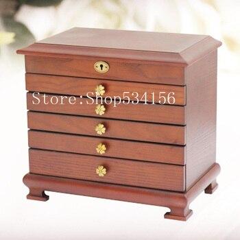 6 layers Luxury wooden jewelry gift box