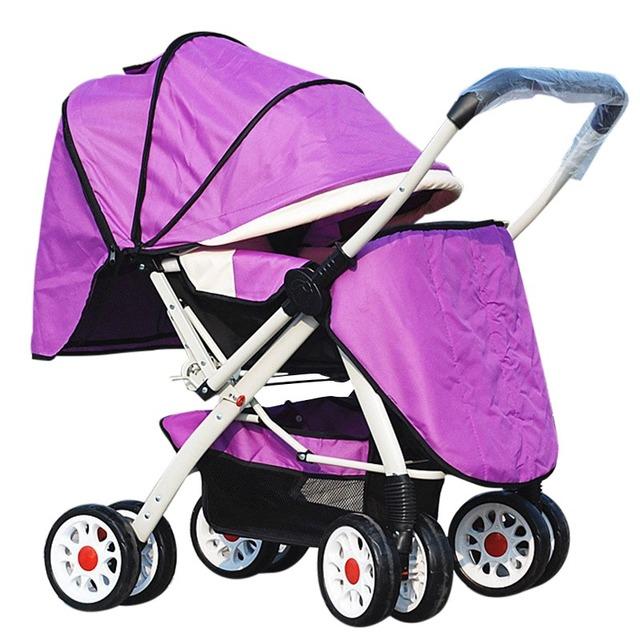 Widen Cochecito de Bebé de Dos Vías de Cuatro Ruedas Carro Ligero Plegable para Niños Cochecitos de Bebé Cochecito Cochecitos Cochecito Infantil