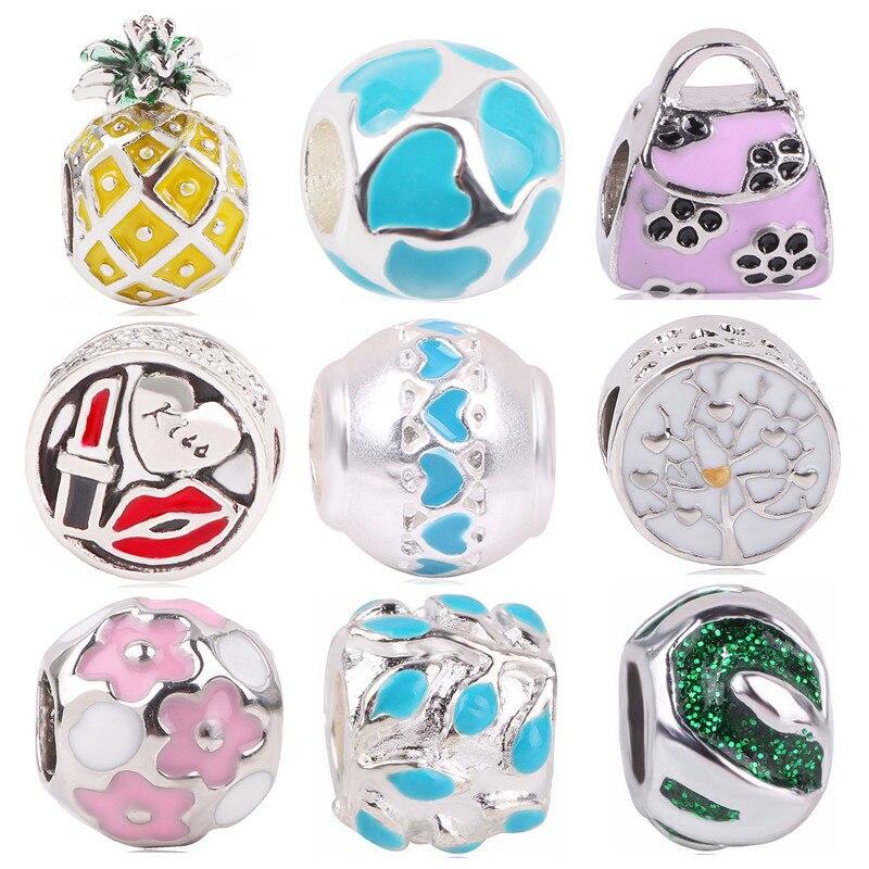 MMC Silver Pink Spring Flower Fairy Angle Beauty Charm Beads Bracelets