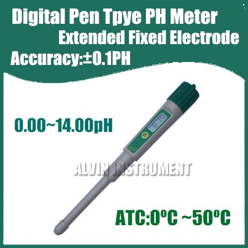 Free Shipping Digital Pen Type Pocket Digital PH Meter Tester Acidimeter Extended Electrode Accuracy:0.1pH Resolution:0.01pH ATC brand new professional digital lux meter digital light meter lx1010b 100000 lux original retail package free shipping