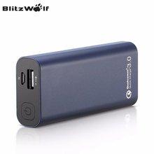 Blitzwolf teléfono qc3.0 bw-p4 5200 mah banco portable de la energía de carga rápida banco de la energía de batería externa para el iphone para xiaomi powerbank