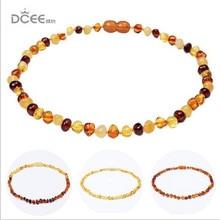 Honey Raw Ambar Teething Necklace for Baby Teething Relief Custom Baltic Ambar Unpolished Handmade Ambar Beads Jewelry
