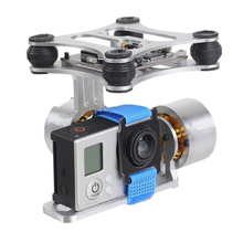 цены на 2-Axis Panel Metal Portable Mounting Gimbal Stabilizer Aluminum Alloy Brushless Camera PTZ Control For RC Drone For Gopro3 2 1  в интернет-магазинах