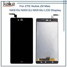 Для ZTE Нубия Z9 Max NX510J NX512J NX518J ЖК-дисплей Дисплей + 5.5 дюймов черный Сенсорный экран планшета Ассамблеи repairparts для ZTE Z9 max