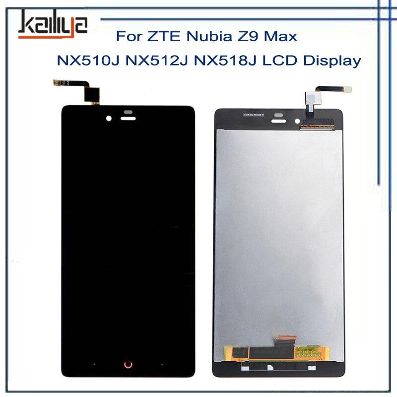 Para ZTE Nubia Z9 Max NX510J NX512J NX518J Display LCD + 5.5 Inch Z9 Repairparts Preto Touch Screen Digitador Assembléia Para ZTE MAX
