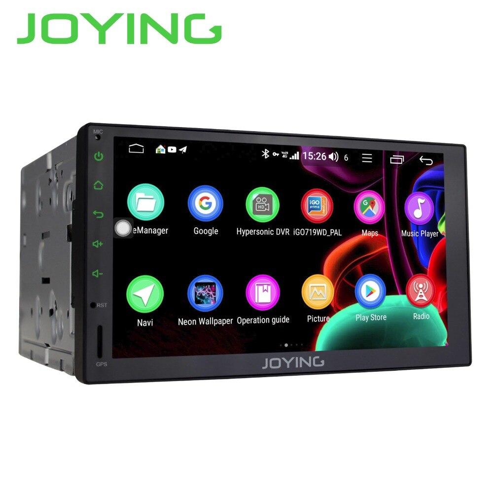 JOYING double 2 din autoradio Octa Core 4 GB + 64 GB Android 8.1 GPS Navigation bande lecteur cassette Support 4G carte SIM DSP Carplay