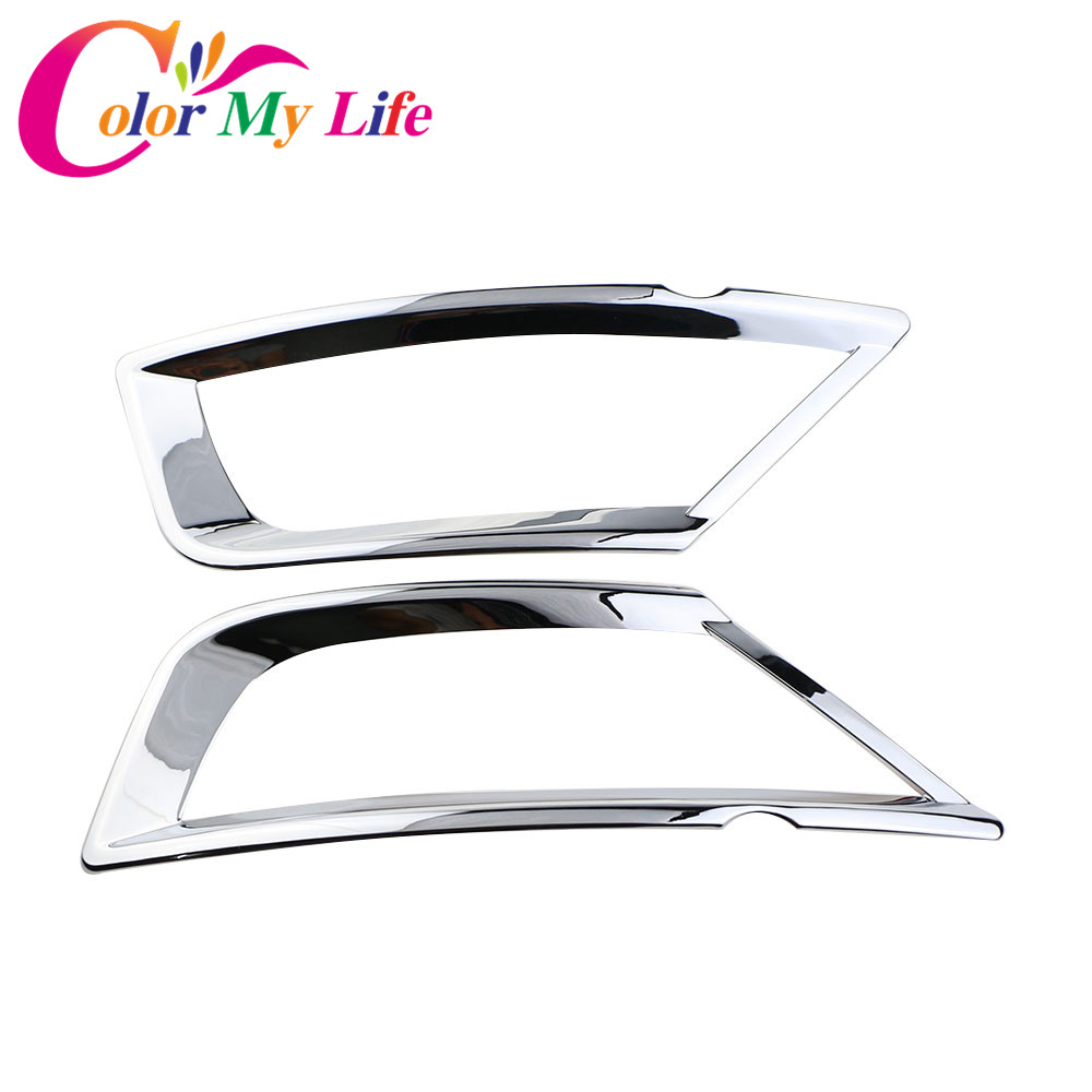 Color My Life ABS Rear Fog Lamps Fog Lamp Fog Light Chrome Cover Sticker for Ford Ecosport 2012 -2017 Car Accessories 2Pcs/Set hot sale abs chromed front behind fog lamp cover 2pcs set car accessories for volkswagen vw tiguan 2010 2011 2012 2013