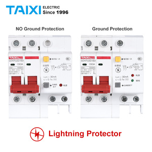 DZ47LE Residual current circuit breaker with surge protector RCBO small MCB RCCB with Lightning protection SPD(China)