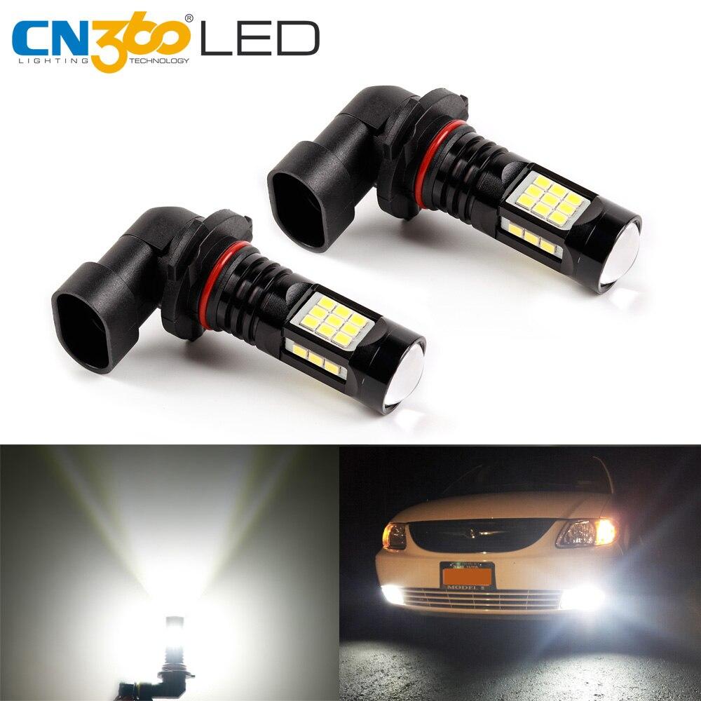 CN360 2PCS Auto LED Fog light Bulb H8 H11 9005 9006 2835 27 pcs chip Fog