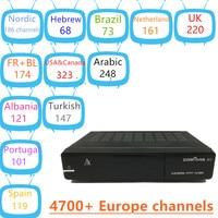 Zgemma h5アルバニアiptvデュアルコアdvb-s2/t2/c受容ハイブリッドチューナーh.265フランス語スウェーデンiptvドイツアルバニアオランダ語ポルトガル