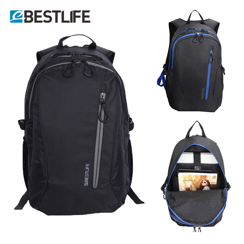 BESTLIFE Bolsas de nylon de gran capacidad y peso ligero Mochila de viaje urbano Mochila con mochila 15.6 Bolsas de escuela para adolescentes