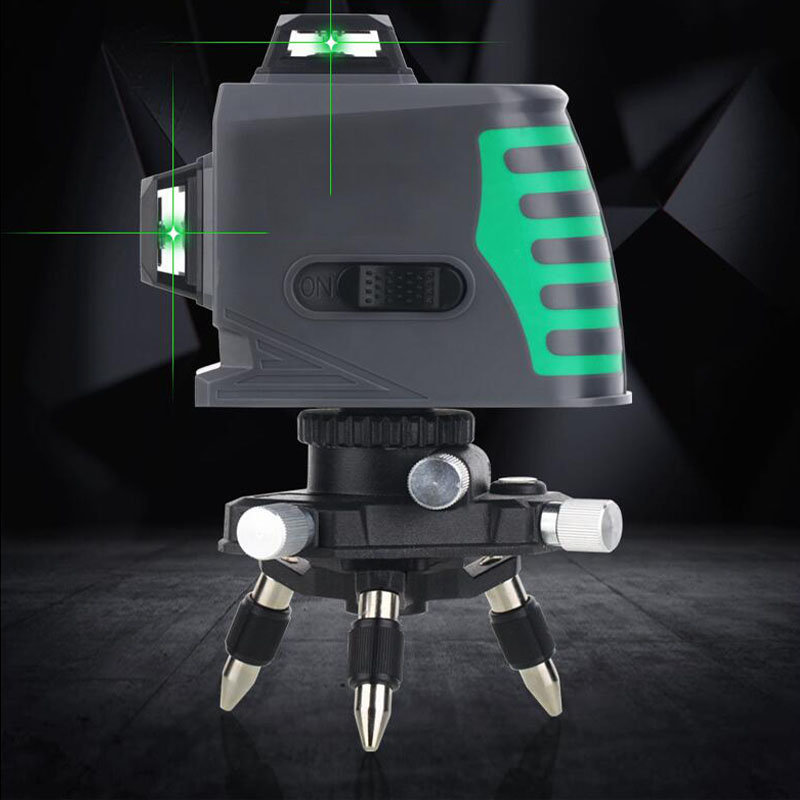 8-Line Laser Level 3D Automatic Balance Vertical And Horizontal Cross Super Strong Beam Line Wall Meter
