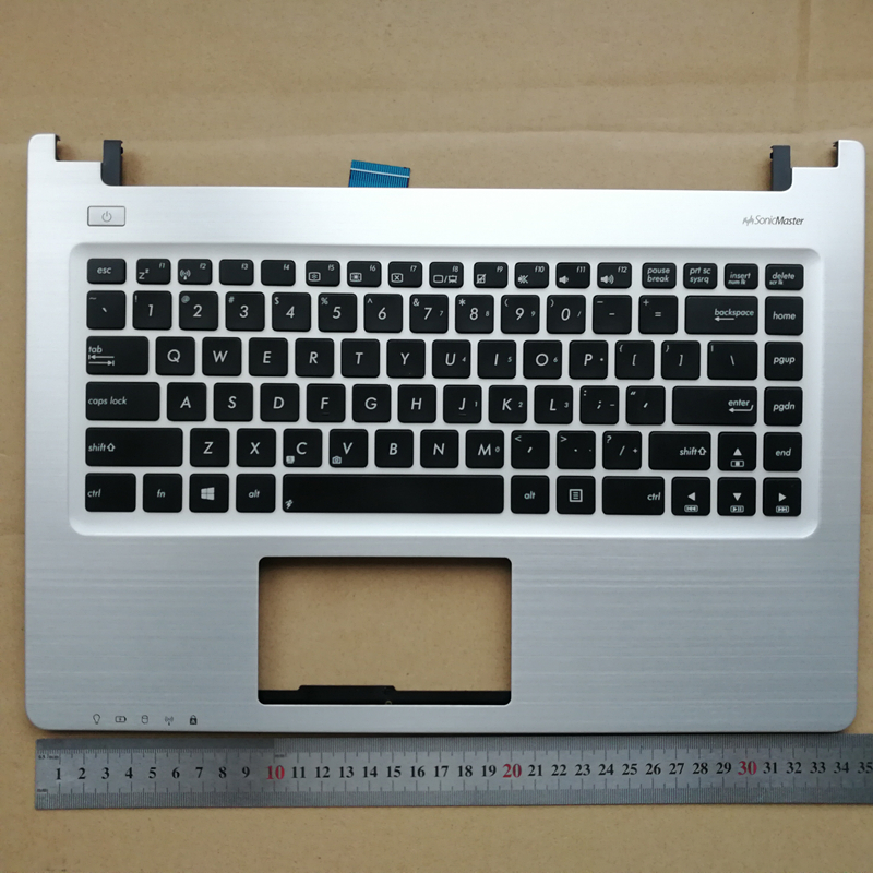 US New laptop upper case base cover <font><b>keyboard</b></font> Plamrest for <font><b>ASUS</b></font> S46C K46 <font><b>K46CM</b></font> R405C A46C K46C E46C 13GNTJ1AM031-01 4HKJCTC image
