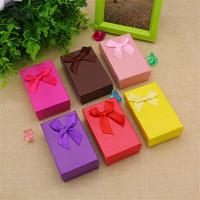 24 PCS Gift Box Jewelry Ring Earrings Bracelet Cardboard Bracelet Box Storage Case Packing Bangle Boxes Satin Ribbon Engagement