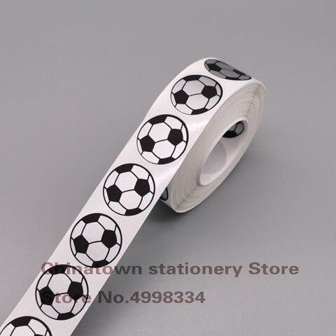 1000pcs bloco dos pces scratch fora stickers1 inch casca de futebol redonda e adesivo da