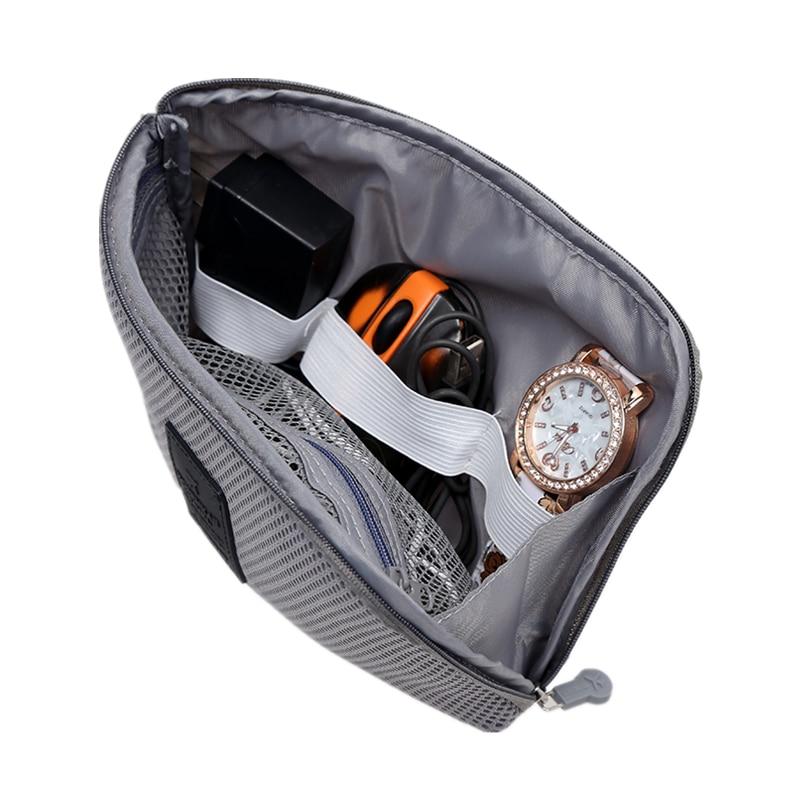 2 db Tartozék táska merevlemez-meghajtók számára A fülhallgató-kábelek USB flash meghajtók Utazási tok Digitális táska szervező
